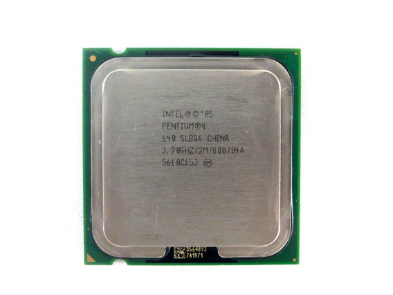 Processador Desktop Intel Pentium 4 640 3.20ghz 2mb Sl8q6