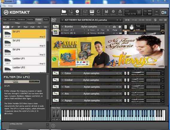 Kit Tierry Na Sofrencia Para- Kontakt - Aylan Samples 2016