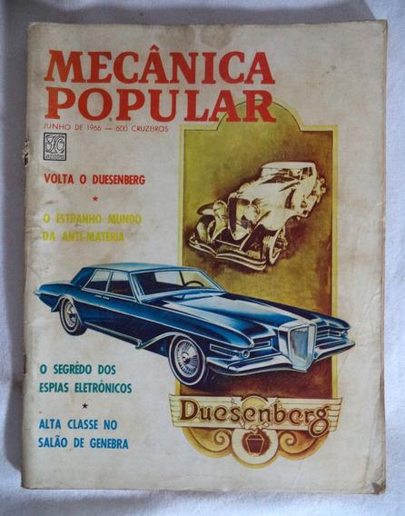 Mecânica Popular Revista Carro Automóvel Junho 1966 *