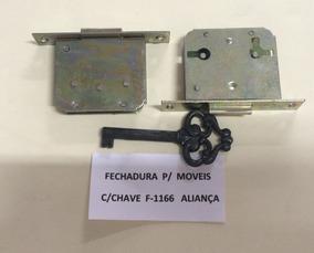 Fechadura P/moveis F-1166 Aliança C/ 04 Pçs