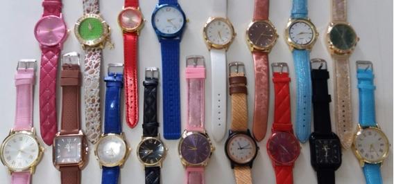 Kit C/10 Relógios Masc/fem E Unisex - Frete Grátis - Revenda