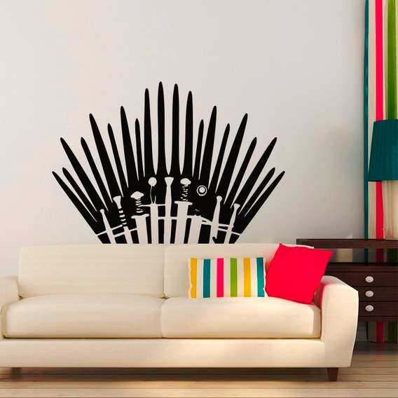 Vinilo Decorativo Game Of Thrones Juego De Tronos Espadas