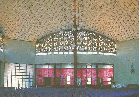 Cac-1103- Postal Cascavel, P R- Interior Igreja S. Cristovão