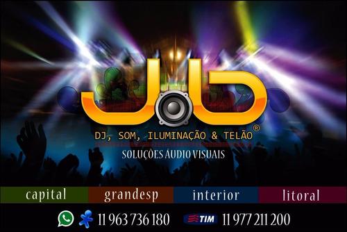 Imagem 1 de 10 de Dj,som,iluminação,telão,fumaça,tapete Xadrez,festa,dj Jaba