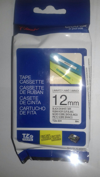 4 Fita Brother Tze 231 Original 12mm Pt-h110 Pt-h105 Refil