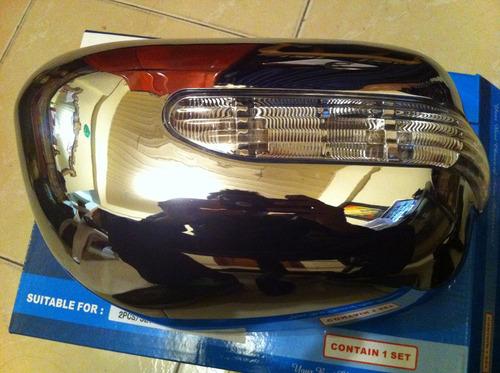 Espejos Con Luz Cubiertas Toyota Hilux Vigo Fortuner 06-15
