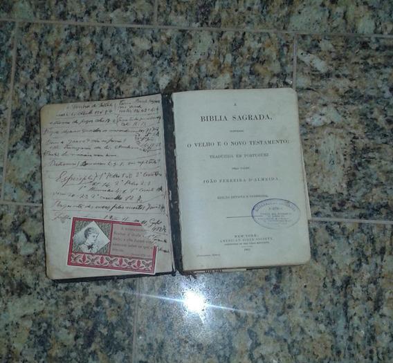 Antiguidades Arremates Bíblia Sagrada 1901 New York Mdcccvi
