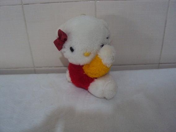 Boneca De Pelúcia Antiga Hello Kitty Tamanho 16cm