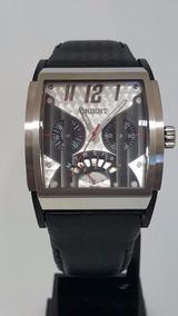 Relógio Orient Masculino Clássico Couro Unique Gtscm001 Data