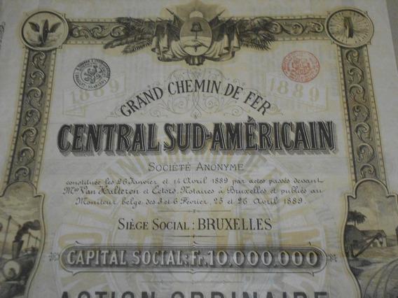 Grand Chemin De Fer Central Sud Americain.