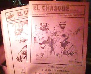 El Chasque Surero 9 Rev Gauchos Carretas Caballos Menea Lazo