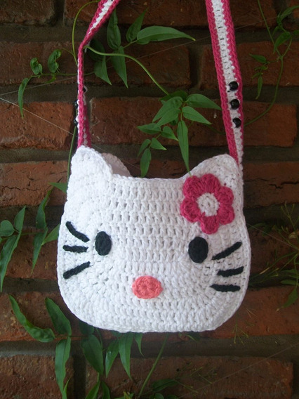 Cartera Al Crochet Kitty
