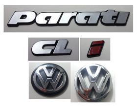 Kit Emblemas Volkswagen Parati Cl I Vw Grade Mala 91 À 97