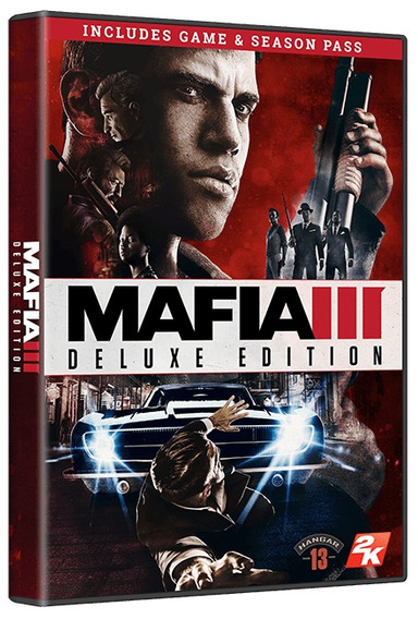 Mafia 3 Deluxe Edition - Pc Dvd - Mídia Física - Frete 8 R$