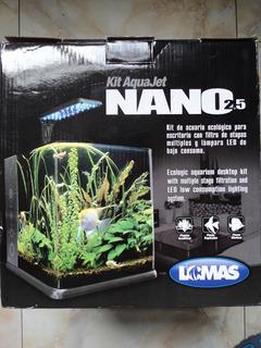 Nano Acuario 18 Litros Filtro Tapa Lámpara Led Envio Incluid