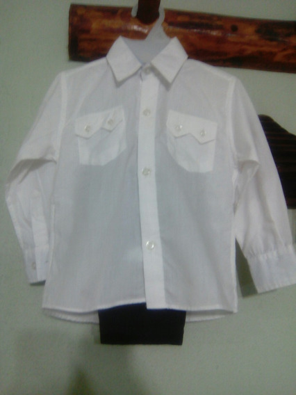 Camisa Blanca Y Pantalon Gabardina De Vestir Para Nene