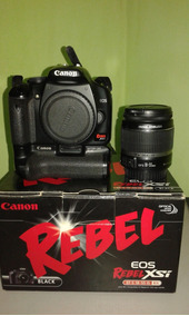 Canon Eos Rebel Xsi + Lente Ef-s 18-55 + 02 Baterias + Grip