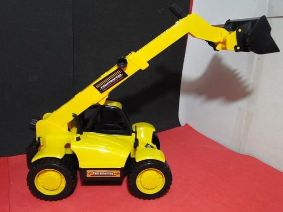 Trator Brinquedo Retroescavadeira Material Construção
