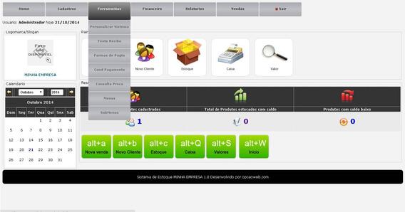 Script Controle De Estoque, Financeiro E Vendas Online Php