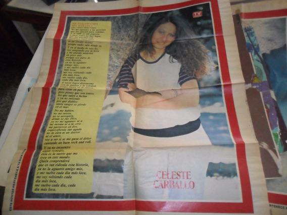 Gran Poster Tv Guia Celeste Carballo Cancion Canciones