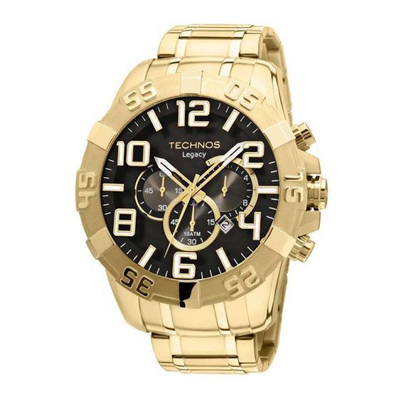 Relógio Technos Masculino Legacy Os20im/4p Dourado Grande