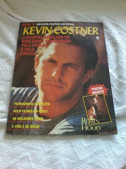 Revista Pôster Kevin Costner Set Pôster Gigante.