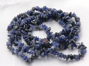Cascalho Sodalita Natural Azul Escuro Miuda Fio Teostone 441