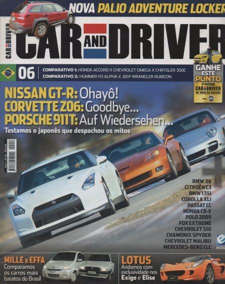Car And Driver N°6 Nissan Gt-r Corvette Z06 Porsche 911t S10