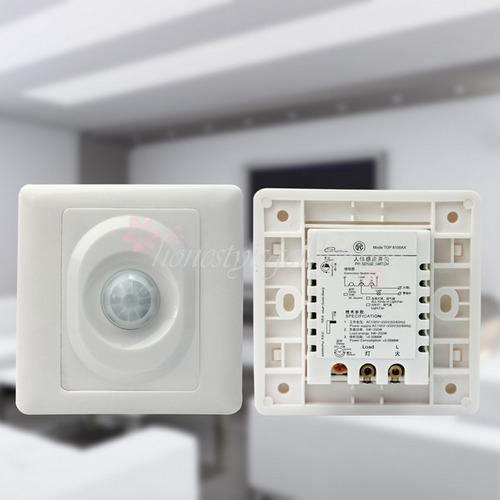Sensor De Movimiento De Embutir Para Luz Automática