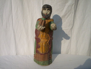 Antiguo Santo De Madera Folk Art Sacro De Galeria