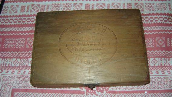 Antiquisima Caja De Madera El Cubano (habanos? )habana