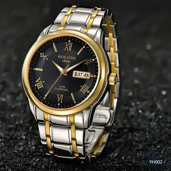 Relógios Holuns Dourado Automático