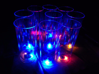 100vasos Trago Largo Luminosos 3 Led C/u Env.gratis