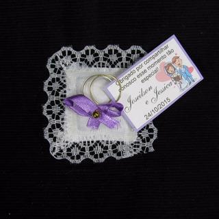 Almofadinha Lembrancinha Casamento Aliança Kit 250 Unid