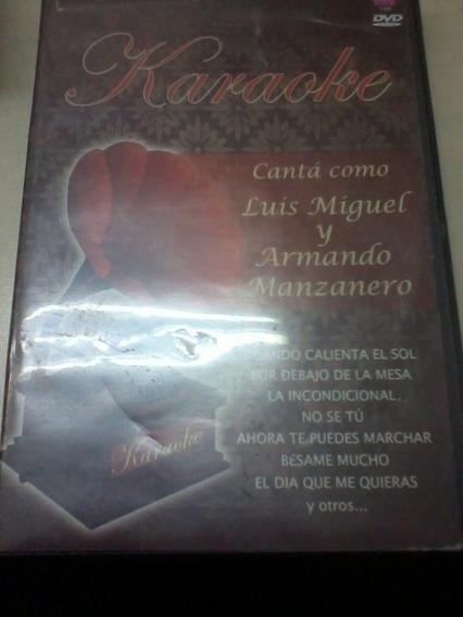 Cd Karaoke Canta Como Luis Miguel Armando Manzanero 2009