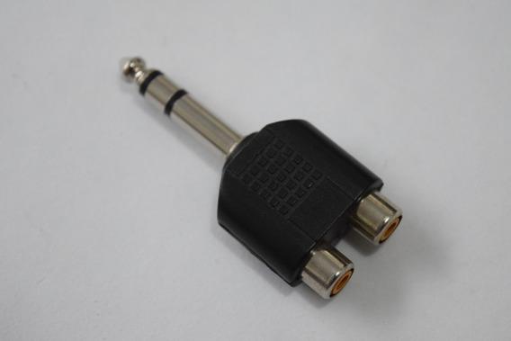 Kit Plug P2 X P10 Plug + Adaptador, P10 Stereo X 2 Rca
