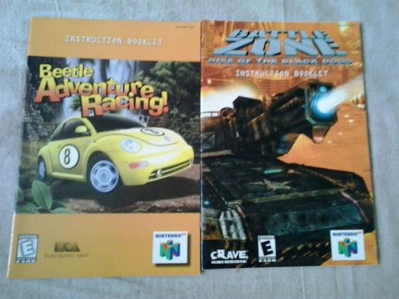 Manual Jogo Nintendo 64 Beetle Adventure Battle Zone N64