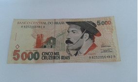 Nota Antiga De Cinco Mil Cruzeiros Reais, Gaucho