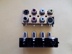 Conector Placa Rca Femea + Super Video - Audio/video