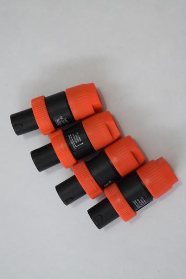Kit Plug Csr Speakon - Kit Com 12 Macho