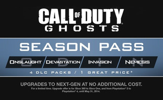 Call Of Duty Ghosts Season Pass Ps3 Playstation 3 Original