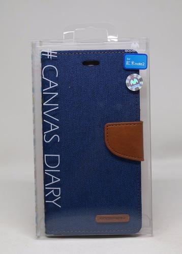 Funda Redmi Note 2 Mercury Goospery Canvas Diary Azul