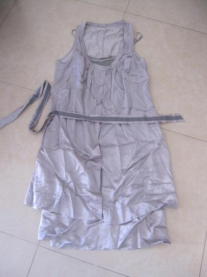 Vestido Plateado Super Comodo T:42 Styles Solerito Practico