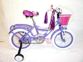 Bicicleta Rodado 16 Gm 19058 Dama Paseo Nena Niñas Gmstore