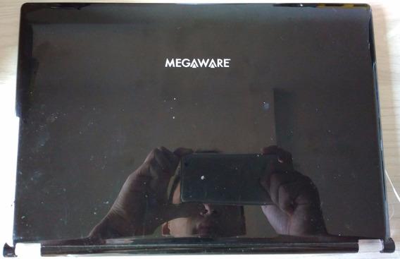 Carcaça Tampa Tela Meganetbook Classic At Megaware Preta