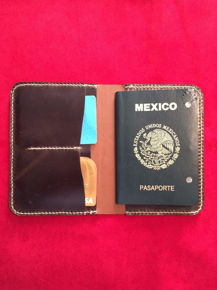 Porta Pasaporte 100% Piel