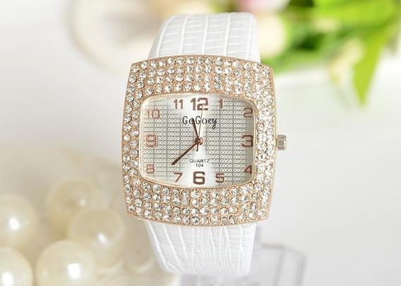 Relógio Feminino Crystal Luxo Importado Pronta Entrega