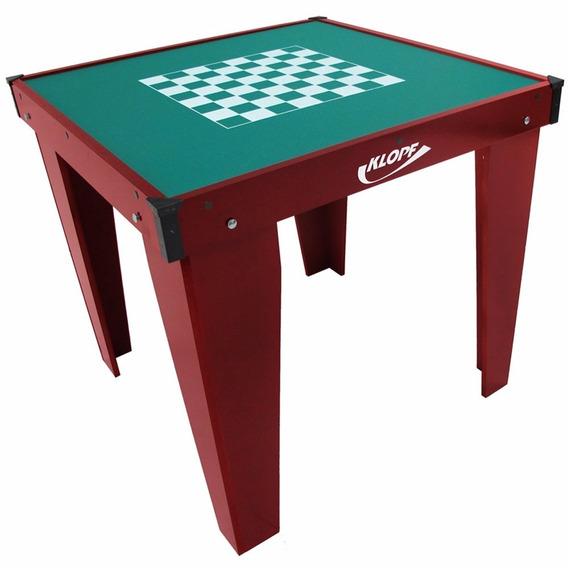 Mesa Jogos Xadrez Domino Dama 84x84cm Klopf 1078