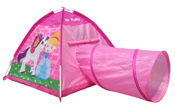 Casita Carpa Infantil Niños Con Tunel Pony Iplay Pc