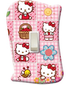 Placa Com Interruptor Hello Kitty